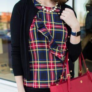 J. Crew Factory ~ Tartan plaid ruffle blouse